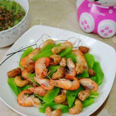 腰果莴苣拌河虾