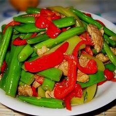 莴笋四季豆炒肉