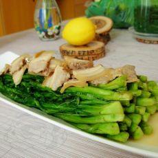 五花肉炒莴笋苗-首发的做法
