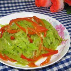 红椒莴笋丝