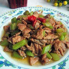 莴笋丁炒瘦肉