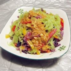 蒜香凉拌紫甘蓝莴笋