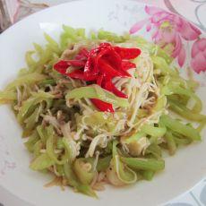 金针菇炒莴笋