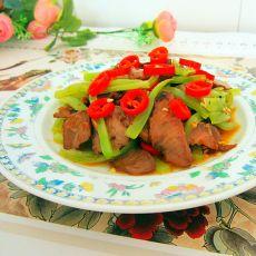 叉烧肉烧莴笋