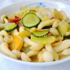 白玉菇炒杂蔬