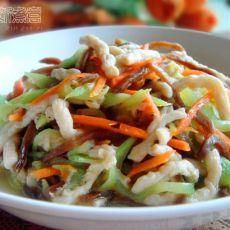 三丝炒花生素肉的做法
