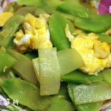 鸡蛋炒笋片
