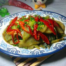 红椒炒窝笋