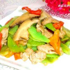 香菇莴笋炒里脊