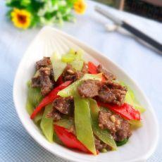 莴笋炒牛肉的做法