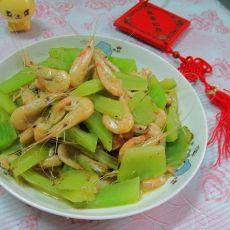 莴笋炒白虾的做法
