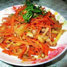 胡萝卜炒莴笋