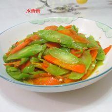 红萝卜烧莴笋