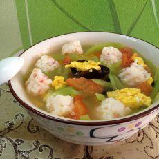 虾丸时蔬汤的做法