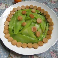 火腿肠炒莴笋