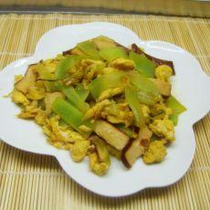 素炒鸡蛋熏干莴笋