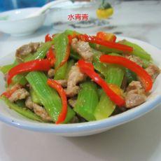 莴笋条炒肉丝的做法
