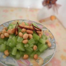 莴笋拌花生米