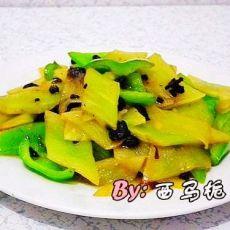 豆豉尖椒莴笋