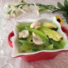 莴笋口蘑汤