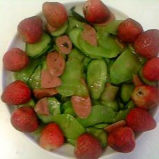 莴笋黄瓜炒火腿肠的做法