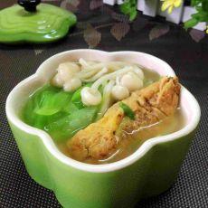 鲜蘑蛋饺汤