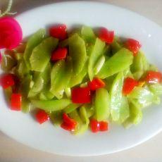 甜椒炒莴笋