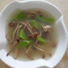 莴笋茶树菇排骨汤