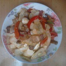 五花肉炒莴笋
