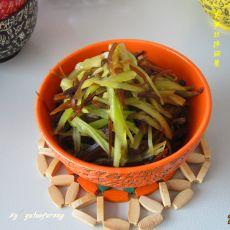 莴苣丝拌咸菜的做法