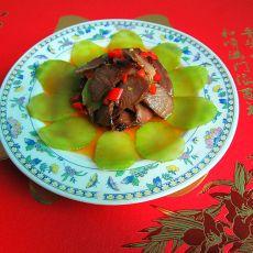 莴笋片烧叉烧肉