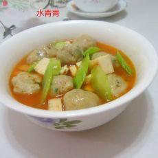 莴笋香干丸子汤的做法