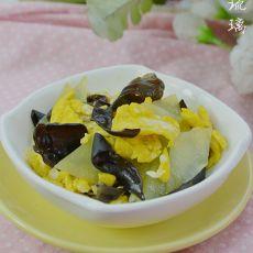 木耳莴笋炒蛋