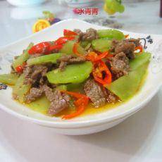 牛肉炒莴笋的做法