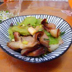 莴笋炒熏肉