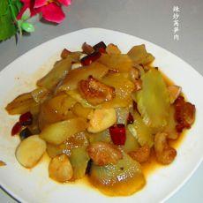 辣炒莴笋肉
