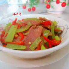 米椒莴笋烧腊肉