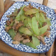 莴笋炒五花肉
