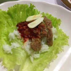 韩式牛肉菜包饭的做法