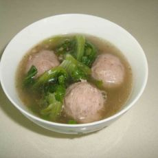快手牛肉丸生菜汤的做法