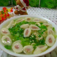 生菜鱼卷汤