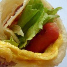 火腿鸡蛋卷饼