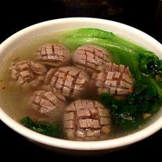 生菜牛肉丸汤