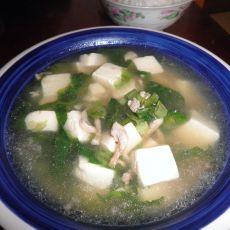 生菜豆腐肉丝汤的做法