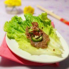 香烤牛肉生菜包