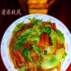 红烧肉炒生菜