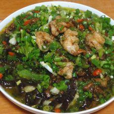 鲜虾肉末浇茄龙