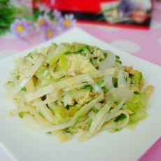 槐花蔬菜炒饼