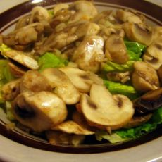 炒口蘑拌生菜