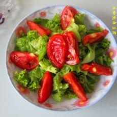 生菜拌西红柿